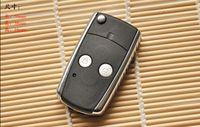 llave remota yaris al por mayor-Envío gratis modificado flip key shell para 2 botones remoto llavero fob para Toyota camry corolla Yaris k