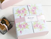 Wholesale Wholesale Bakery Boxes Free Shipping - Pink Flowers Printed Bakery and Cookie White Cardboard Paper Cupcake, Moon Cake Boxes and Food Packaging Free Shipping
