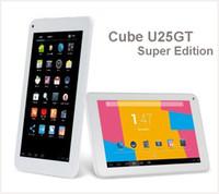 Wholesale U25gt Hd - 7 inch Cube U25GT Super Edition Quad Core MTK8127 GPS Tablet PC HD IPS Screen 1GB RAM 8GB Storage Android 4.4 U25GTC4W Bluetooth HDMI MQ10