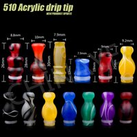 Wholesale Cigar Mouthpiece Plastic - 510 EGO Transparent Mouthpiece Colorful Plastic Drip Tips For Atomizer Vaporizer Clearomizer EE2  ce4 510 For Ego Starter Kit E Cigar