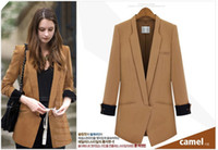 Wholesale Wholesale Women Office Suits - office lady formal suit, girll slim fashion panelled blazer,new spring collection in 2016, 2 colors 4 sizes, free shipping