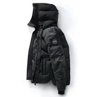 Wholesale Skiing Jacket Parka - 2018 High Quality CANADA New Winter men's Down puffer jacket Casual Brand Hoodies Down Parkas Warm Ski Mens Coats 320