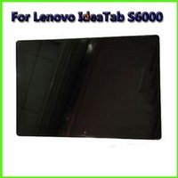 Wholesale Display Lcd Repair Tablet - Touch Panels 10.1 inch For Lenovo Idea Tab S6000 Cell Phone LCD Display Touch Screen Digitizer Tablet LCD Screen Repair
