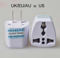 adaptateur eu white achat en gros de-Chargeur de voyage de haute qualité AC Power Power UK / AU / EU Aux États-Unis Plug Adapter Converter USA Universal Power Plug Adaptador Adaptador Connector (Blanc)