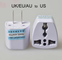 Wholesale travel adapter for sale - High Quality Travel Charger AC Electrical Power UK AU EU To US Plug Adapter Converter USA Universal Power Plug Adaptador Connector White