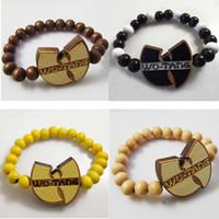 Wholesale Hiphop Good Wood - Good wood hip-hop Wu Tang wutang bracelets hiphop bead jewelry hot sale wholesale