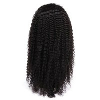 Wholesale unprocessed curly brazilian hair wig online - Cheap Kinky Curly Lace Front Human Hair Wigs For Black Women Unprocessed Virgin Hair Full Lace Wigs With Baby Hair Natural Hairline