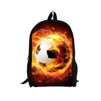 Wholesale Cool Backpacks For Boys - FORUDESIGNS Cool School Bags for Teenagers Boys,3D Fire Ball Prints Schoolbag Stylish High School Student Backpack Satchel Set