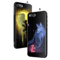 Wholesale Slide Back Case - Tempered Glass Hard Case For iPhone X 7 8 Plus 6 6S Plus Black Soft TPU Bumper Shockproof Anti-slide Back Cover Free Shipping