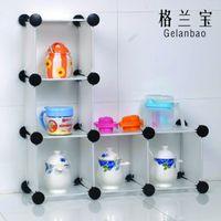 Wholesale Diy Plastic Simple Wardrobe - Diy storage rack combination of simple wardrobe shoe hanger storage rack shelf