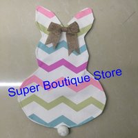 Wholesale Gardening Goods - Good quality canvas 12*18inch easter bunny garden flag for easter day decoration Monogrammed outdoor hanging garden flags