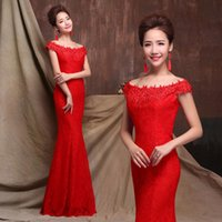Wholesale Off Shouder - 2017 Elegant Custom Made Mermaid Formal Prom Dresses Off Shouder Cap Sleeves Lace Applique Long Prom Evening Gows Lace Up