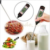 Wholesale Wholesale Digital Meat Thermometer - 200pcs CCA2821 Food Grade Digital Cooking Food Probe Meat Kitchen BBQ Selectable Sensor Thermometer Portable Digital Cooking Thermometer