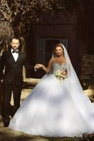 online shopping Ball Gown Wedding Dress - 2015 Long Sleeve Wedding Dresses with Rhinestones Crystals Backless Ball Gown Wedding Dress Vintage Bridal Gowns Spring Quinceanera