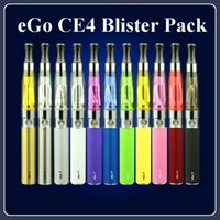 Wholesale Ego Ce4 Clearomizer Wholesale - Top Quality eGo CE4 Starter Kits Blister Pack kit Electronic Cigarette with CE4 Clearomizer Atomizer 650mah 900mah 1100mah eGo-T Battery