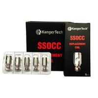 unidade de bobina kanger t3s venda por atacado-Kanger SSOCC Bobinas Kangertech SSOCC Atomizador bobina de cabeça 0.5ohm 1.2ohm Fit Nebox Subvod Starter Kit Topbox mini-Toptank Nano