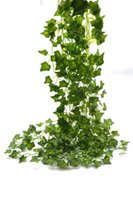 Wholesale poison ivy - Artificial Plants Ivy Leaves Beebel 85Ft 12 strands Artificial Fake Leaves Hanging Vines Plant Leaves Garland Home Garden Poison Ivy Costume