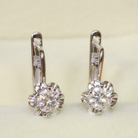 Wholesale Tcw Brilliant - FG Charles&Colvard Brand Round Brilliant Moissanite 0.66 Carat(TCW) Drop Dangle Earrings Sterling Silver