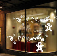 Wholesale Snowman Bells - 2016 Snowman Bell Star Wall Sticker New Year Party Window Decals Party Gift Lovely Merry Christmas Tinkle Bell Wall Stickers