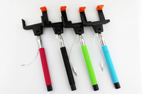 Wholesale Gopro Plus - for gopro z07-5(plus) Wired selfie stick Extendable Monopod Tripod With Shutter Release Over ios 4.0 android for s5 iphone 6 plus Free Ship