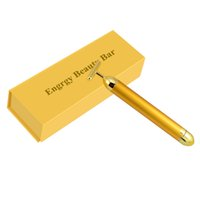 Wholesale NEW K Gold Plated Vibration Facial Beauty Roller Massager Stick Skin Rejuvenation Face Lifting Vibrating Bar