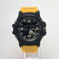 Wholesale Plastic Strapping Machines - GG1000 Movement Machine Top Brands Shock Watch with Compass  Alarms  Silicone Strap, Watches with Multiple Time Zone