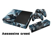 Wholesale Assassins Creed Xbox - Assassins creed Protective Decal Skin Stickers For xbox one Console+ 2 Controllers + Kinect Skin