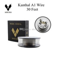 Wholesale a1 vapors - Authentic Vapor Tech A1 Wire 30 Feet 30Ft AWG 24g 26g 28g 30g 32g Gauge for RDA RBA RTA Coil DHL