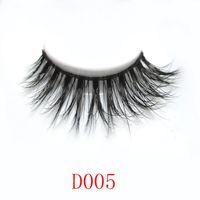 Wholesale Eyelashes Tail - Wholesale-Free Shipping 1Pair Lot Thick False Eyelashes Mink Eyelash Lashes Voluminous Makeup #005 Tail Winged