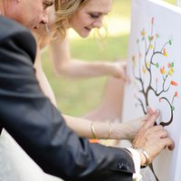 Wholesale Thumbprint Wedding Guest Book - Wholesale-Hot Fashion Creative Wedding Love Fingerprint Tree Guest Book Signature Thumbprint Ink Pad Rainbow=5