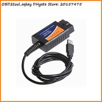 obd2 cable usb renault achat en gros de-AQkey OBD2tool ELM327 Interface USB OBD2 Diagnostic Auto Auto Scan Tool USB ELM327 OBDII Scanner Cable Car Adaptateur
