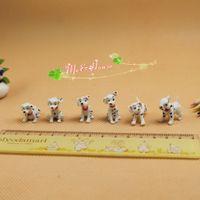Wholesale Furnitures Wholesalers - 1 12 scale Lot 6 Dollhouse Miniatures Dalmatians 101 Dotted Dog Figures  Doll house mini furnitures accessory  qq_dollhouse m a p s