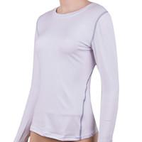 hızlı kuru tişörtler kadınlar toptan satış-Kadın Çabuk kuru Sıkıştırma Baz Katman Sıkı FG1511 Tops Tee Gömlek Spor Tops