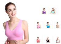 Wholesale Shape Up Vest - Newest 8 colors sports vest seamless bra yoga bra running bra body shape push up vest
