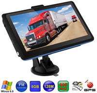 Wholesale car gps online - HD inch Car GB GPS Navigation MHZ WINCE FM Transmitter Truck Navigator New Maps
