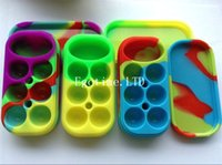 Wholesale factory container - HOT!!! Factory Price Colorful Wax Containers big Silicone jars container 6+1 silicone contianer for wax silicone jars dab wax container