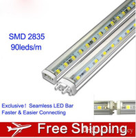 Wholesale Landscape Led Lighting Kit - Super bright 2835 LED Bar Lights Blister Kit 4pcs 30cm LED rigid Strip 12V 90led m 8.64W m Cabinet Showcase LED Lamp + 24W LED Power Supply