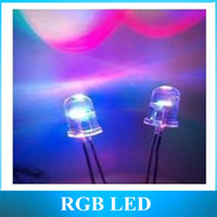 Wholesale Colorful Color Change Led - Wholesale-5mm colorful slow flash LED f5 red green blue RGB automatically change color LED lamp beads 1000pcs