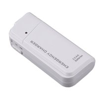 Wholesale Emergency Aa Mobile Charger - Universal Portable White USB Emergency 2 AA Batteries Extender Charger Power Bank For Mobile Phone iPhone MP3 MP4