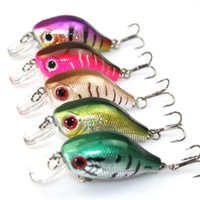 Wholesale 3d Eyes For Lures - Wholesale Bionic Fish Shoal Fishing Hard Lures Plastic 3D Eyes Crankbait 5.5cm 10g for Bass Fishing