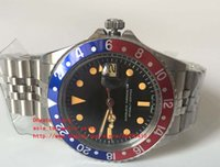 montres mécaniques vintage achat en gros de-Dernière montre de luxe de haute qualité Asia 2813 Movemen 40mm Vintage GMT 1675 Pepsi Saphir mécanique automatique Mens Montres