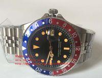 vintages saatler toptan satış-Son Lüks Yüksek Kalite İzle Asya 2813 Movemen 40mm Vintage GMT 1675 Pepsi Safir Mekanik Otomatik Mens Saatler