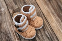 Wholesale Tall Shoes Wholesale - 2015 Comfortable Fashion Cute Baby boy first Walker Shoes InfantWarm Handmade Knit High-top Tall Boots Shoes 0-12M custom