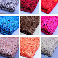Wholesale Brown African Lace Fabrics - Hot ! Free Shipping New 2015 Tops High Quality 24 Color Water Soluble 3D African Lace Venice Lace Fabrics   Wedding Dress Fabrics