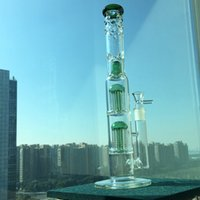 Wholesale Decorative Pipe - Green Speranza double tree dome water pipe 18mm bowl big water pipes Green decorative bump glass bong