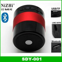 Wholesale Audio Card For Pc - Portable Mini Bluetooth Hifi Speaker Micro SD TF Card USB Disk Music Player MP3 4 Audio SDY-001 FM Radio for iPhone Samsung pc
