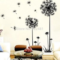 Wholesale Dandelions Wall Stickers - New Arrival Creative Dandelion Wall Art Decal Sticker Removable Mural PVC Home Decor Gift Free Shipping & Wholesale