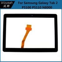 Wholesale Screen Replacement Tab - Samsung Galaxy Tab 2 P5100 P5110 N8000 Touch Screen Digitizer Glass Panel Black And White Repair Replacement Parts For Samsung