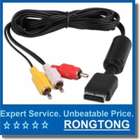 Wholesale Playstation Rca Cable - 6 feet 1.8M Audio Cable to RCA AV Video Cable Cord For Sony PlayStation PS2 PS3 AV cable Console System New