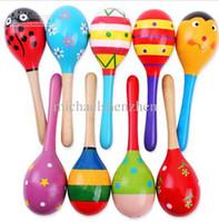 brinquedos de instrumentos musicais para bebés venda por atacado-Venda quente Do Bebê De Madeira Brinquedo Chocalho Do Bebê Bonito Chocalho brinquedos Orff instrumentos musicais Brinquedos Educativos